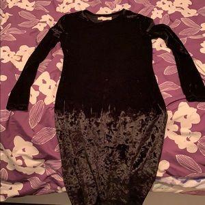 Authentic Michael Kors velvet black dress